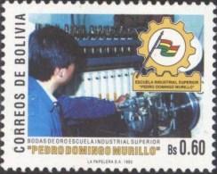 Bolivia 1993. CEFIBOL 1481 ** Bodas De Oro De La Escuela Industrial Pedro Domingo Murillo.  See Description. - Bolivia