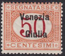 ITALIA - VENEZIA GIULIA - Tax N.6  - Cat.1400 Euro  - CENTRATO  Con CERTIFICATO  - MNH** - Gomma Integra - POSTFRISCH - 8. Occupazione 1a Guerra