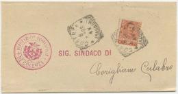 1906 ANNULLO TONDO RIQUADRATO COSENZA RACCOMANDATE MA USATO PER ERRORE SU CORRISPONDENZA ORDINAR…VEDI DESCRIZIONE (6284) - 1900-44 Vittorio Emanuele III