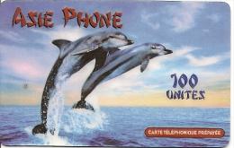 CARTE-PREPAYEE-ASIE PHONE-100U-DAUPHINS-30/06/2001--T BE- - Andere Voorafbetaalde Kaarten