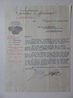 Lettre 1927 Carrières Du Hainaut Exploitation De La Pierre Bleue Petit Granit Soignies - 1900 – 1949