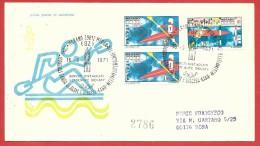 ITALIA REPUBBLICA FDC VENETIA RACCOMANDATA - 1971 - Campionati Mondiali Di Canoa A Merano - ANNULLO BILINGUE MERANO - 1946-.. Republiek