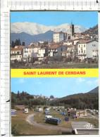 SAINT LAURENT DE CERDANS   -  Souvenir  -  2 Vues  -  Vue Générale -  Camping  -  Véhicule - Other Municipalities