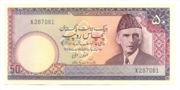 PAKISTAN OLD RS50 USMAN ALI NO VERSION  ON REVERSE PREFIX X  WITH TWO USUAL PIN HOLES UNC. - Pakistan