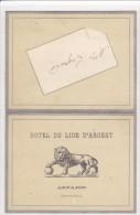( 91 ) ARPAJON - Menu De L'Hotel Du LION D'ARGENT Du 27 Avril 1896 - Menus