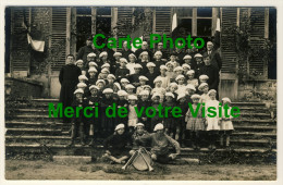 Eslettes - Carte Photo - Colonie De Vacances Marie Thérèse  -   Curés, Encadrants, Colons Avec Trompette .....Année 1928 - Altri Comuni