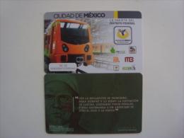 MEXICO - METRO - RECHARGEABLE CARD - - Wochen- U. Monatsausweise