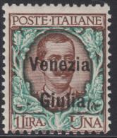 ITALIA - VENEZIA GIULIA - N.29  - Cat.450 Euro  - BEN CENTRATO  Con CERTIFICATO  - MNH** - Gomma Integra - POSTFRISCH - 8. Occupazione 1a Guerra