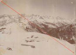 Grande Photo 19èm Alpes Savoie Montagne Vue Du Gondran Infernet C Baraques Massif Pelvoux - Photos