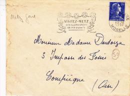 Metz Gare 1957 - Flamme étoiles Illuminations De Noel - Mechanical Postmarks (Advertisement)