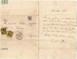 TB 281 - TB Type Sage  N° 96 X 2  Sur Lettre OB FALAISE - Marcophilie (Lettres)