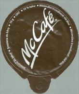 McDONALD´S FAST FOOD RESTAURANT McCAFE COFFEE CREAM SUGAR MILK TOP MILK LID Mc Smotana 2014 * Czech Republic & Slovakia - Milchdeckel - Kaffeerahmdeckel