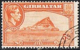 Gibraltar SG125c 1947 Definitive 5d Good/fine Used - Gibraltar
