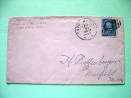 USA 1895 Cover Eaton Rapids MICH To Winfield MICH - Franklin (Scott 264) - 1847-99 Unionsausgaben