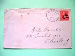 USA 1898 Cover Atwater To Cleveland - Washington (Scott 279B) - 1847-99 Unionsausgaben