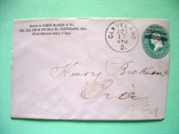 USA 1875 O 1900 Pre Paid Cover Cleveland To Erie PA - Washington (Scott U163 ?) - 1847-99 Unionsausgaben