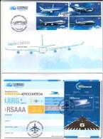 ! ARGENTINE / ARGENTINA: Aviation. Airplanes / Avions Boeing, Airbus (2014) 2 FDC / 1er Jour - Blocks & Kleinbögen