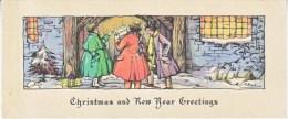 VICTORIAN  ERA  1880´s   CHRISTMAS  CARD   ARTIST  SIGNED - Christmas