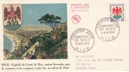 Enveloppe  1er  Jour   Armoiries  De   NICE  1958 - FDC