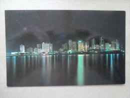 37338 PC: AMERICA: PANAMA: Night Scene Of Punta Paitilla Facing The Bay Of Panama. - Panama