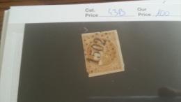 LOT 221949 TIMBRE DE FRANCE OBLITERE N�43B VALEUR 100 EUROS