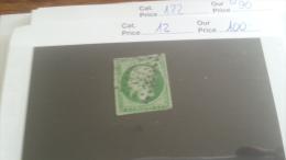 LOT 221969 TIMBRE DE FRANCE OBLITERE N�12 VALEUR 100 EUROS