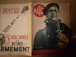 1940 MATCH ; Dunkerque; REKJAVIK; 5e Colonne; NARVIK;  La RAF (Royal Air Force) En Action Sur Les Forces Allemandes - Revues & Journaux
