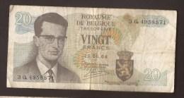 België Belgique Belgium 15 06 1964 20 Francs Atomium Baudouin. 3 Q 4958871 - [ 6] Treasury