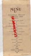 87 - SAINT PRIEST LIGOURE - MENU  CHATEAU ELYAS  17 JUILLET 1930- IMPRIMEUR DUMONT LIMOGES - Menus