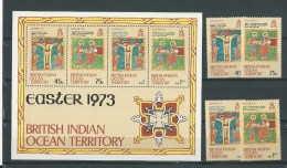 British Indian Ocean Territory: 50/53 + BF 1 **  Pâques - Territoire Britannique De L'Océan Indien