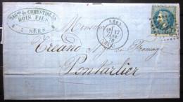 Cachet Type 17 + GC 3354 LAURE  --  SEES  --  ORNE  --  LAC  --  1870 - Marcophilie (Lettres)
