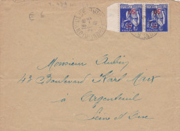 Rigny Ussé 1941 Indre-et-Loire - Sur Paix YT 479 - Postmark Collection (Covers)