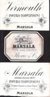 N° 3 Etichette Vini Della Sicilia - Vecchi Documenti