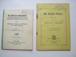 1893/1908 , 2 Brosch�ren Offiziere, Militaria