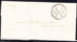 "Italien Vorphila Siege-Briefhülle ""Comando Generale Della Guardia Civica"" Fahnendienststempel 1849 Aus Venezia - Italien"