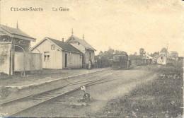 .. CUL-DES-SARTS. Pr�s de Br�ly et L' Escaill�re. Gare avec Tram � vapeur Stoomtram. Edit: Douniau.