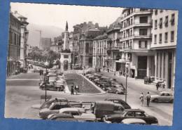 CPSM - CHAMBERY - Boulevard Du Théatre - Automobile Panhard Citroen Traction Peugeot Renault ... - Société Générale - Ansichtskarten