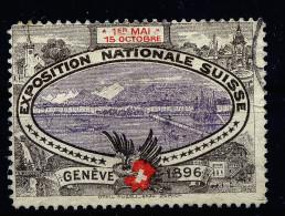 A2890) Vignette EXPOSITION NATIONALE SUISSE GENEVE 1896 - Erinnophilie