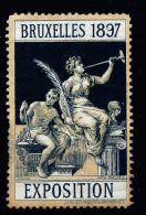 A2891) Vignette EXPOSITION BRUXELLES 1897 - Erinnophilie
