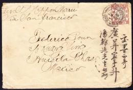 """Hong-Kong 1904 - 20C. Eduard K2 """"Victoria Hong-Kong 20 NO 06"""" Auf Brief Mit Stärkere Mängel Jedoch Selten Nach Mexico - Hong Kong (...-1997)"""