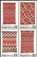1986 USA Navajo Blanket Art Stamps Sc#2235-38 2238a Indian Aboriginal Textile - Textile