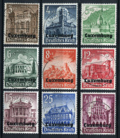 18212) DT.BES. Luxemburg # 33-41 Gestempelt Aus 1941, 18.- € - Besetzungen 1938-45