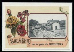 42  BUSSIERES    .... ....  TRAIN  ..souvenir Au Fusain Creation Moderne Série  Numerotée 1 à 10 ... N° 2/10 - Otros Municipios