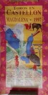 AFFICHE TAUROMACHIE TOROS EN CASTELLON-MAGDALENA 1997