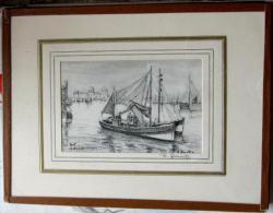 Le Port Ostende Door R. Quintyn (Le Zoute) - Dessins