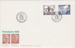 PRIX NOBEL PRIZE NOBELPREIS 1918 PHYSICS  CHEMISTRY MAX PLANCK HABER SWEDEN SUEDE SCHWEDEN 1978 FDC MI 1051 1052 - Nobelpreisträger