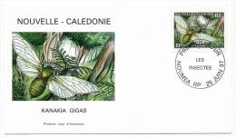 NOUVELLE CALEDONIE => 3 Enveloppes FDC => Les Insectes- 1997 - FDC
