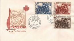 1964 VATICANO VATICAN CROCE ROSSA FDC RODIA - FDC