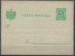 B.14.OCT.190.     OUDE  BLANCO  BRIEFKAART  VAN  ROEMENIE . 1890. - 1881-1918: Charles I