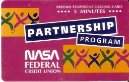 TARJETA DE ESTADOS UNIDOS DE PROGRAM PARTNERSHIP DE LA NASA  - NUEVA-MINT - Espacio